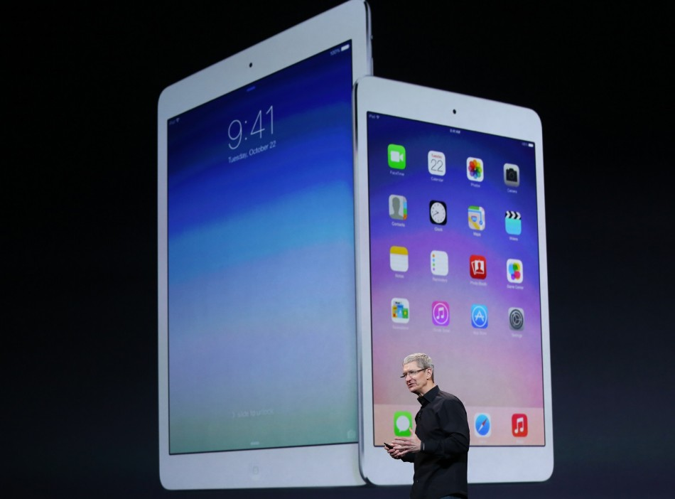 Apple Inc CEO Tim Cook Speaks About the New iPad Air and the iPad Mini with Retina Display