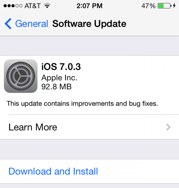 How to Install iOS 7 0 3 Bug-Fix Update on iPhone, iPad or