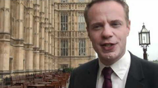 Stephen Gilbert MP on the terrace of the House of Commons where he mounted River Thames rescue PIC: Youtube