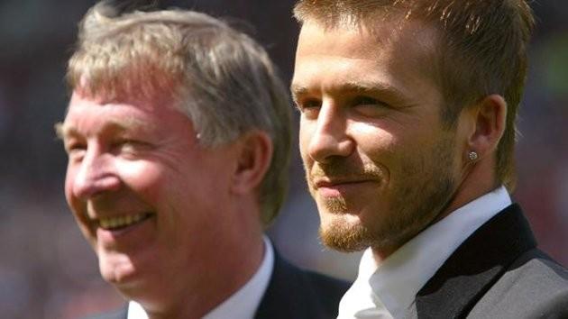 Alex Ferguson and David Beckham