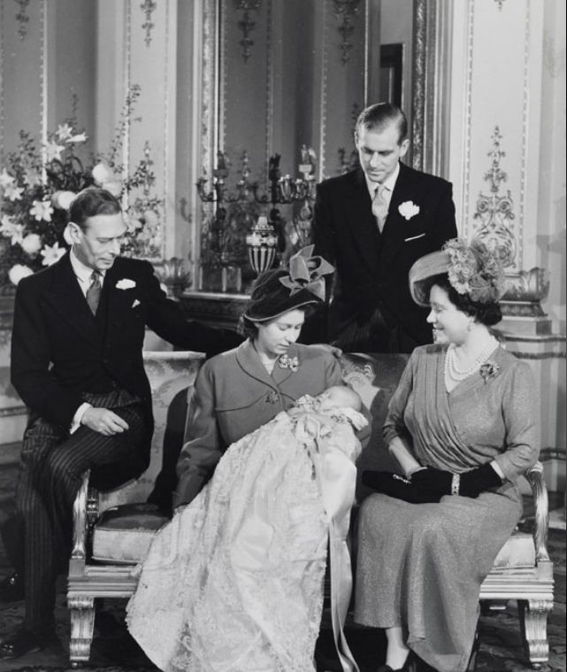 Prince Charles on his christening day in 1948. (Photo: Clarence House)
