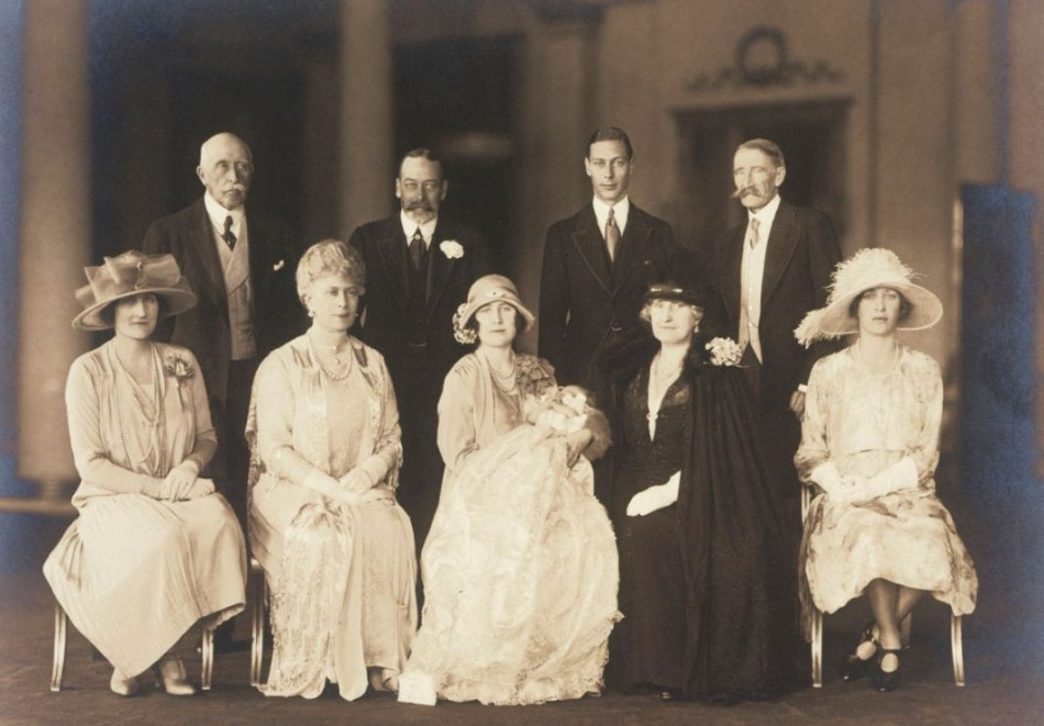 Family group photograph of Princess Elizabeth's (The Queen) Christening, 29 May 1926. (Photo: Clarence House)