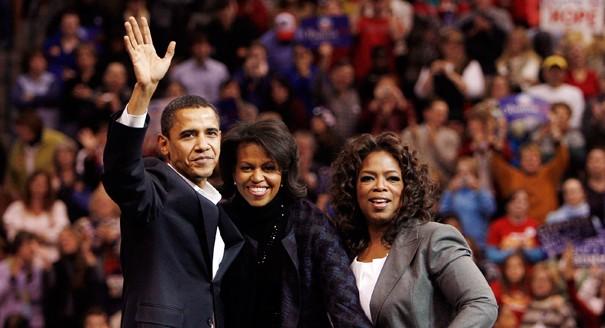 Obamas and Oprah Winfrey