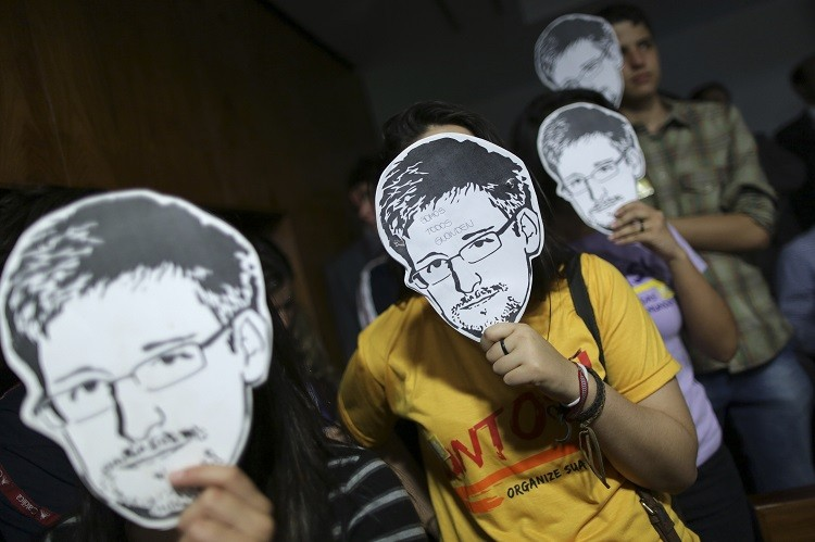 Edward Snowden masks