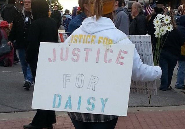 """The """"Justice for Daisy"""" rally arrived one day after a special prosecutor was named to review the case (Facebook)"""