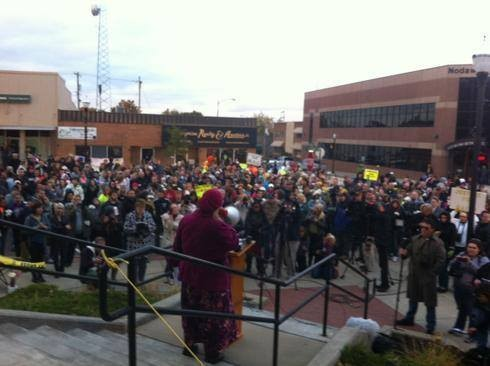 The rally was held in the Maryville's courthouse square