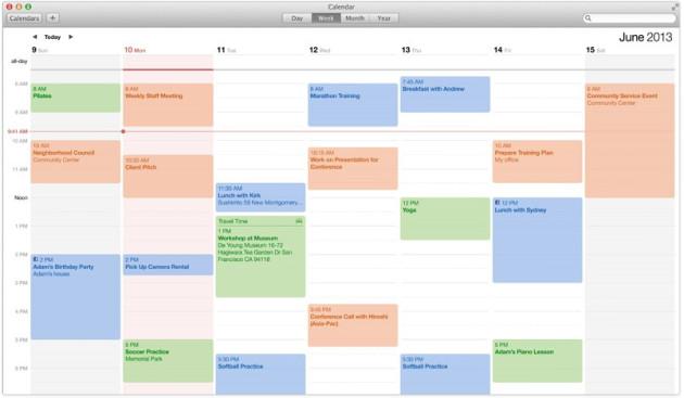 OS X Mavericks Calendar