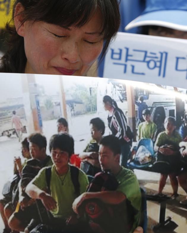 North Korean protester
