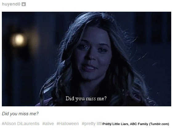 "Alison DiLaurentis Shows Up Alive in ""Pretty Little Liars"" Season 4, Episode 13"