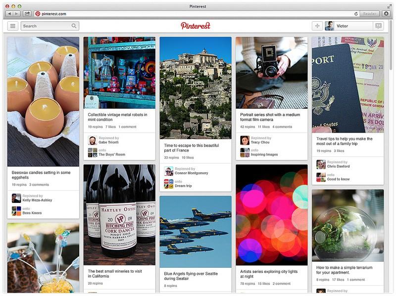 Pinterest web platform