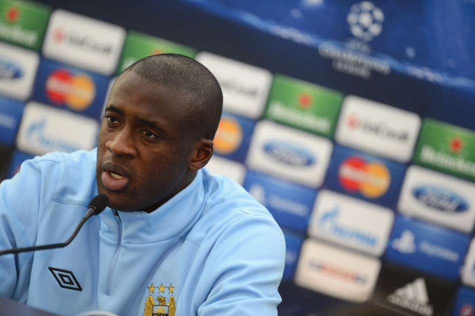 Manchester City player Yaya Toure seemed gloomy about ability to UEFA to get tough on racism PIC: Reuters