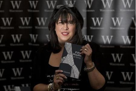 Fifty Shades of Grey producer Michael De Luca said a new comer will be perfect to play Christian Grey. EL James holding her best selling book. (Reuters)
