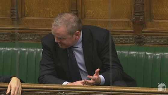 Guto Bebb MP has been hailed in parliament for him leading the charge for the redress for victims of mis-selling derivatives (Photo: Parliament TV)
