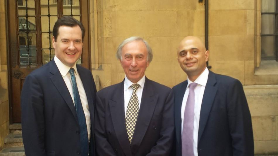 Sajid Javid MP (last on the right) with George Osborne (Photo: Sajid Javid Facebook)