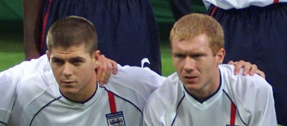 Steven Gerrard and Paul Scholes