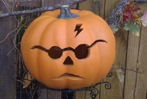 Is this pumpkin more scary than Harry Potter?