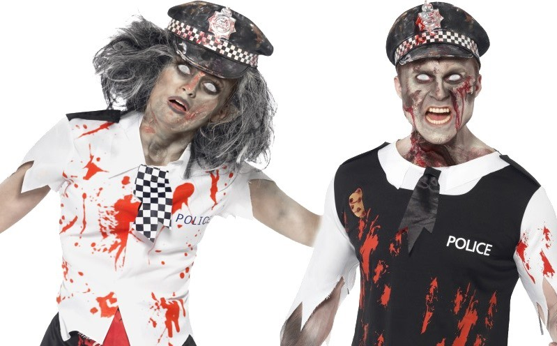 Zombie police officer outfits are available