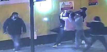 Newly released CCTV footage show the men repeatedly punching and kicking Francesco Hounye (Met Police)