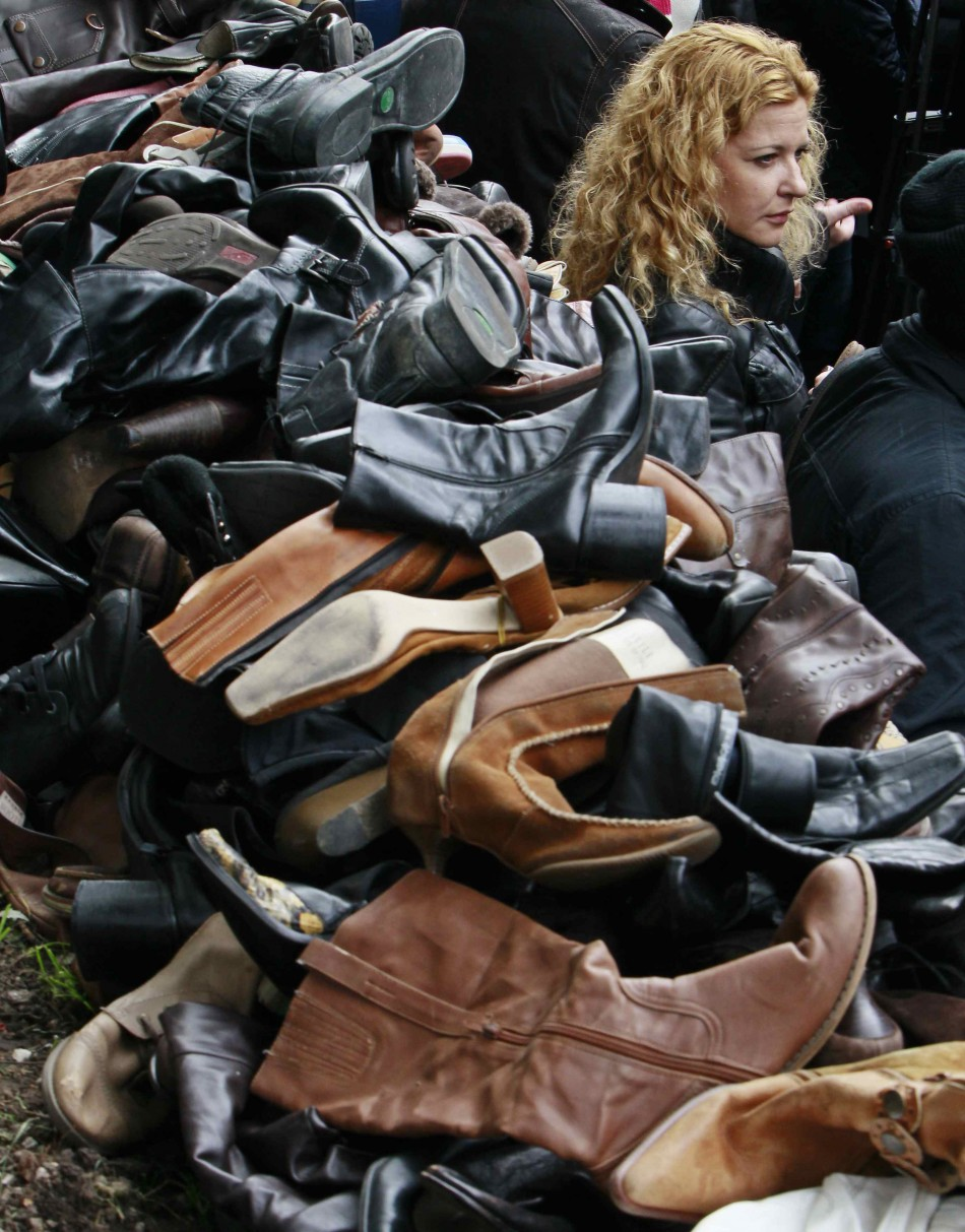 Advocating HIV awareness through the shoes of the deceased in Kiev