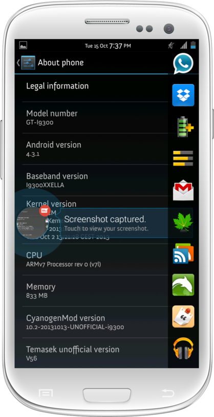 Update Galaxy S3 I9300 to Android 4.3.1 via CyanogenMod 10.2 Unofficial Build [GUIDE]