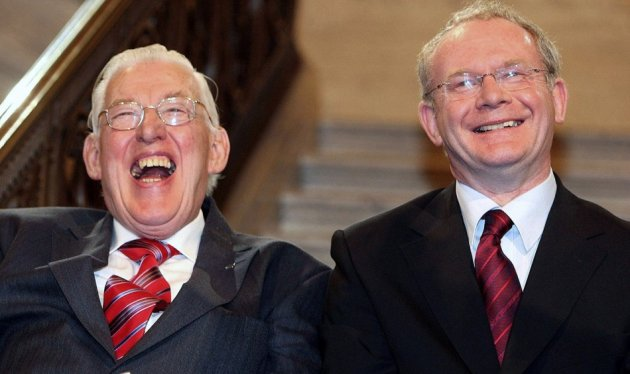 Ian Paisley and Martin McGuinness show how warring sides can unite PIC: Reuters