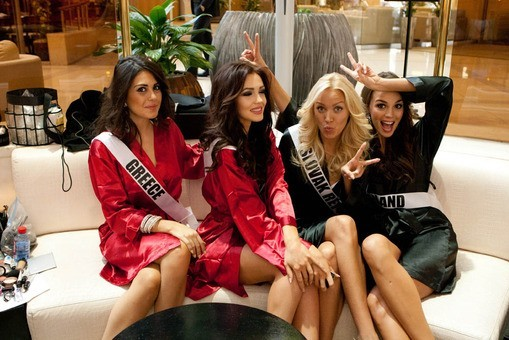 The first event for the pageant was a photo shoot for an Italian lingerie brand, Yamamay swimwear. The contestants posed in two piece white bikinis at the Crowne Plaza Moscow World Trade Centre hotel [missuniverse.com]