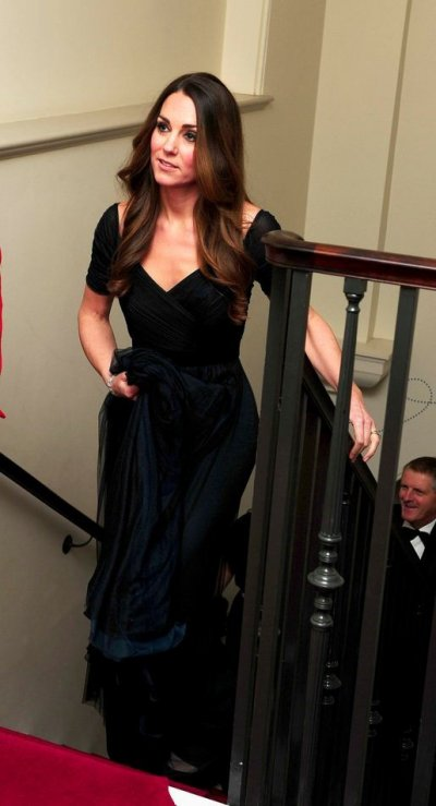 Kate dazzled in a dress by Jenny Packham, one of her favourite deigners. Photo Reuters