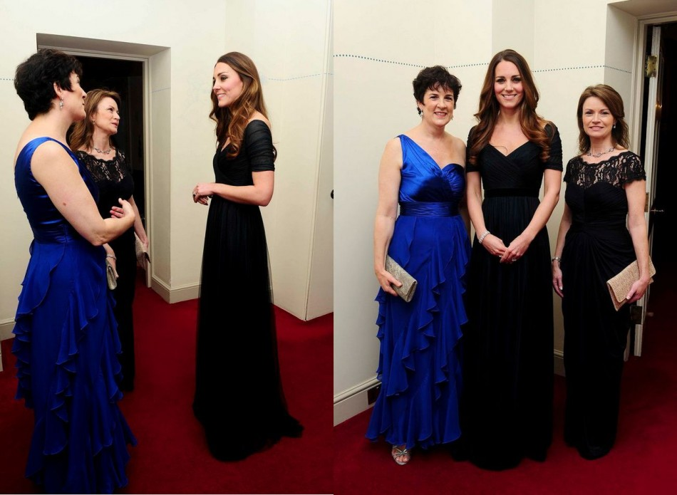 Always a head turner, Kate Middleton stole the show at charity gala.(Photo: Reuters)