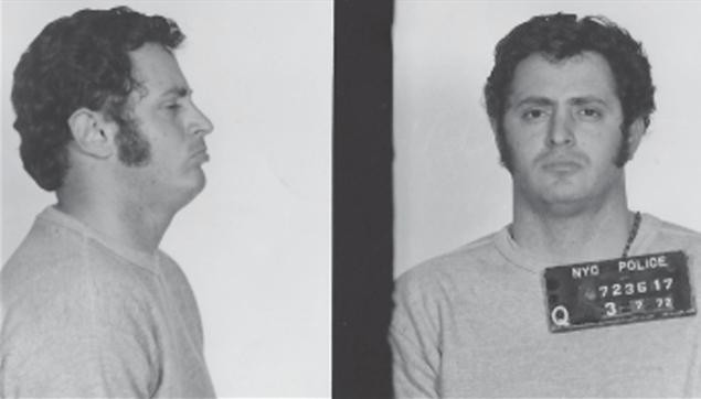 Polisi after his arrest in the 1970s (NYPD)