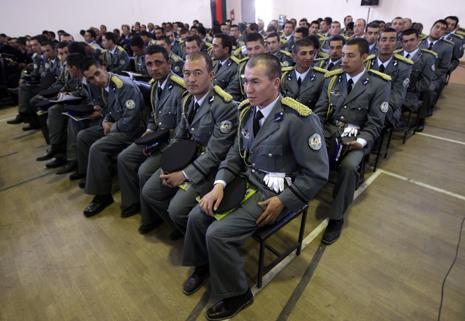 Newly graduated Afghan army officers in Kabul.