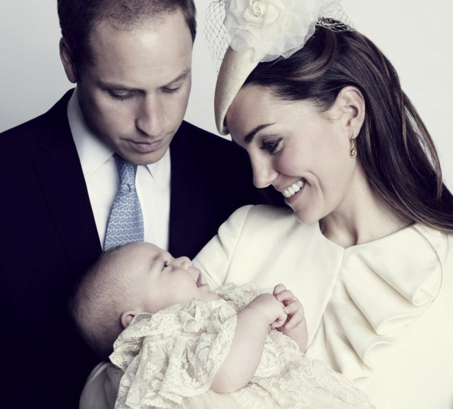 Prince George's Royal Christening: Duchess Kate Middleton and Duke Prince William Release Official Family Photos [See Photos]