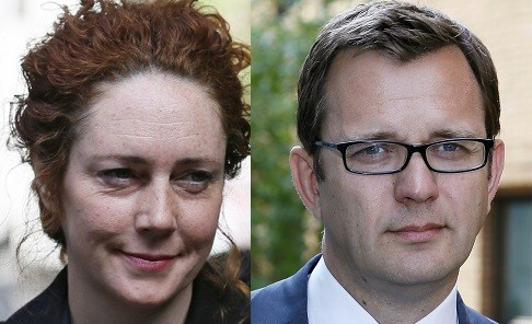 Brooks and Coulson face charges linked to phone hacking and allegations of corrupt payments to public officials (Reuters)