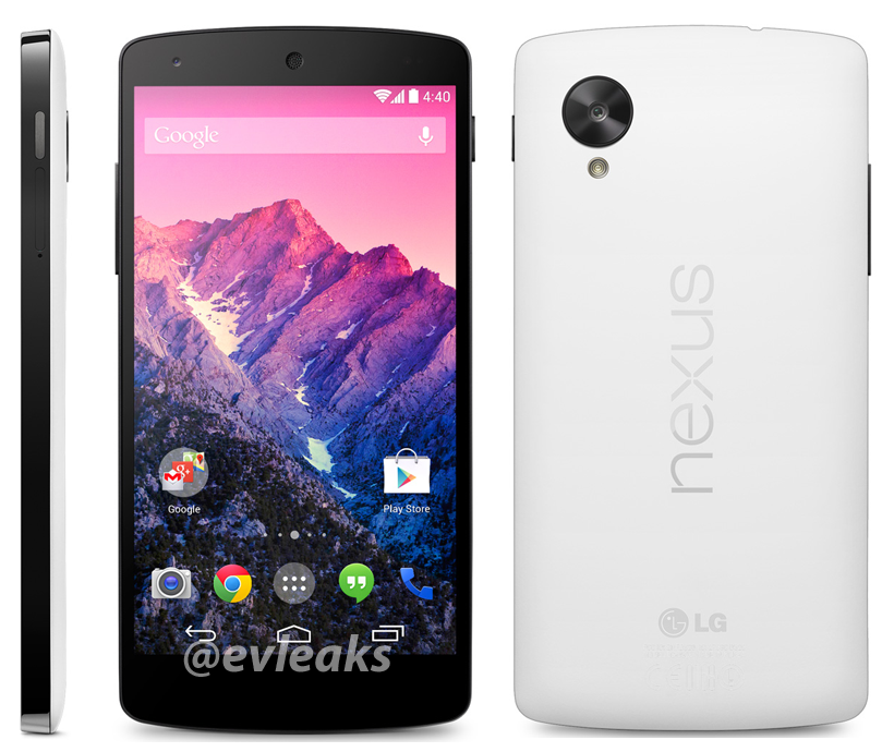 White Google Nexus 5 Release Date 1 November