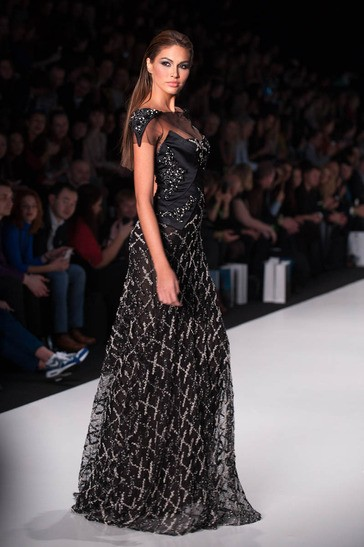 Gabriela Isler, Miss Universe Venezuela 2013, walks the runway at the Tony Ward Fashion Show on October 26, 2013 during Mercedes Benz Fashion Week in Moscow, Russia [MissUniverse.com]