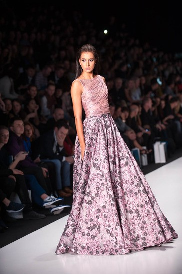 Kerrie Baylis, Miss Universe Jamaica 2013, walks the runway at the Tony Ward Fashion Show on October 26, 2013 during Mercedes Benz Fashion Week in Moscow, Russia [MissUniverse.com]