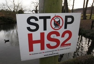 Stop HS2 campaign poster