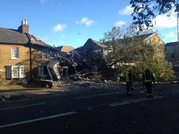 Firefighters called to the incident in west London at around 7:30am (London Fire Brigade)
