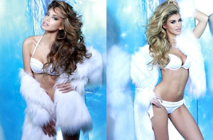 Miss Universe France (L) and Miss Universe Great Britain (Photo: Fadil Berisha/Miss Universe Organization)