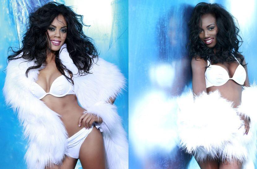 Miss Universe Bahamas (L) and Miss Universe Ghana (Photo: Fadil Berisha/Miss Universe Organization)