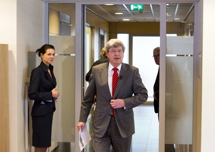 Rabobank's chief executive Piet Moerland is expected to step down earlier than expected following reports that the Dutch lender is on the the cusp of being fined $1bn by US and UK authorities for its alleged role in  Libor fixing (Photo: Reuters)