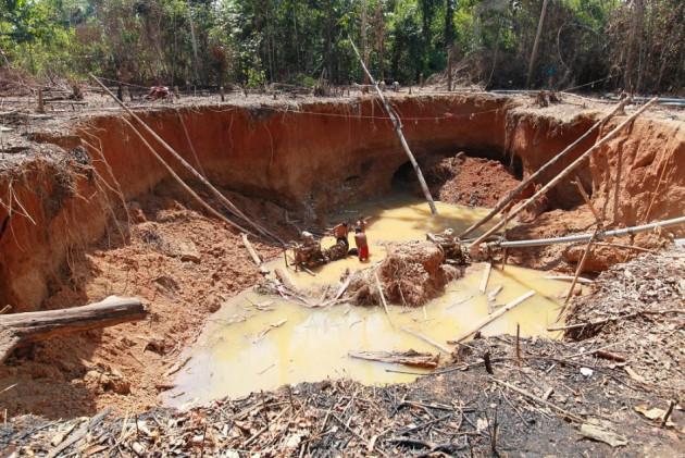 Illegal gold mine