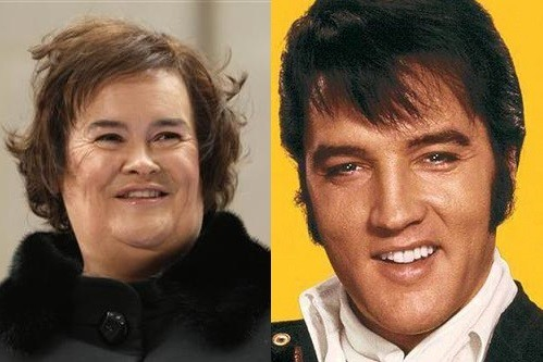 Susan Boyle and Elvis Presley