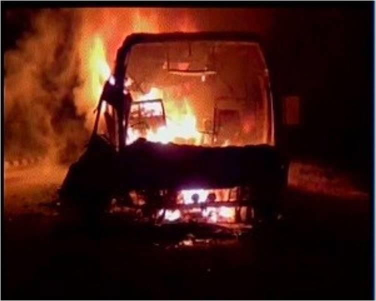 40 Killed in  Bus Accident in Andhra Pradesh