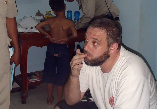 Richard Fruin was arrested at a guest house PIC: Cambodia Police