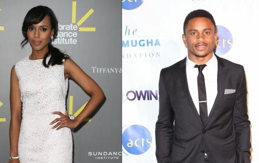 Kerry Washington and  Nnamdi Asomugha.