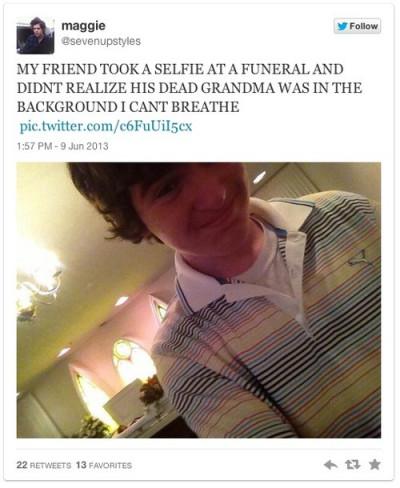 Funeral selfies
