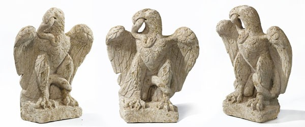 An eagle sculpture dating to Roman period has been found at the development site of a hotel in London. (Photo: Museum of London Archaeology)
