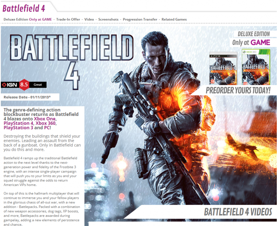 Battlefield 4: UK Release, Price, Pre-orders and System Requirements Revealed [VIDEOS]