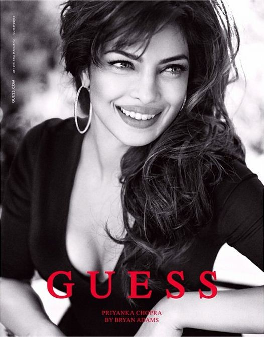 Bollywood actress and former Miss World, Priyanka Chopra, sizzles in Guess' new ad campaign. (Photo: priyankachopra/Instagram)
