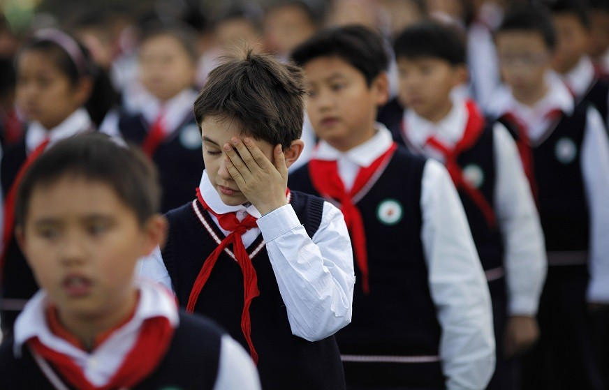 Pupils in China come under pressure from teachers PIC: Reuters